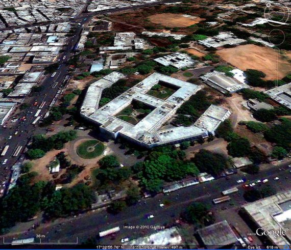 Satellite View of Osmania Medical College